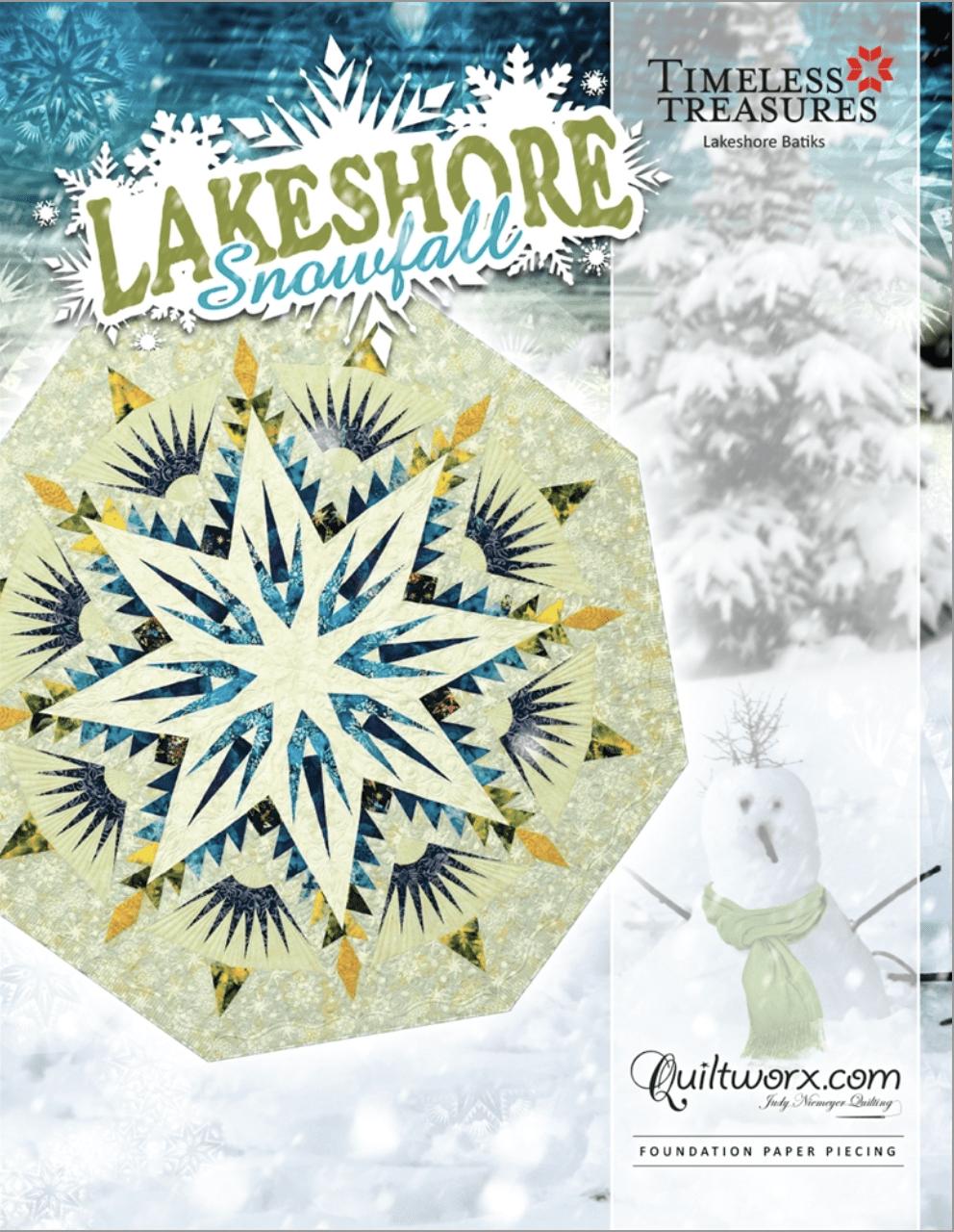 Lakeshore Snowfall Tree Skirt / Table Topper