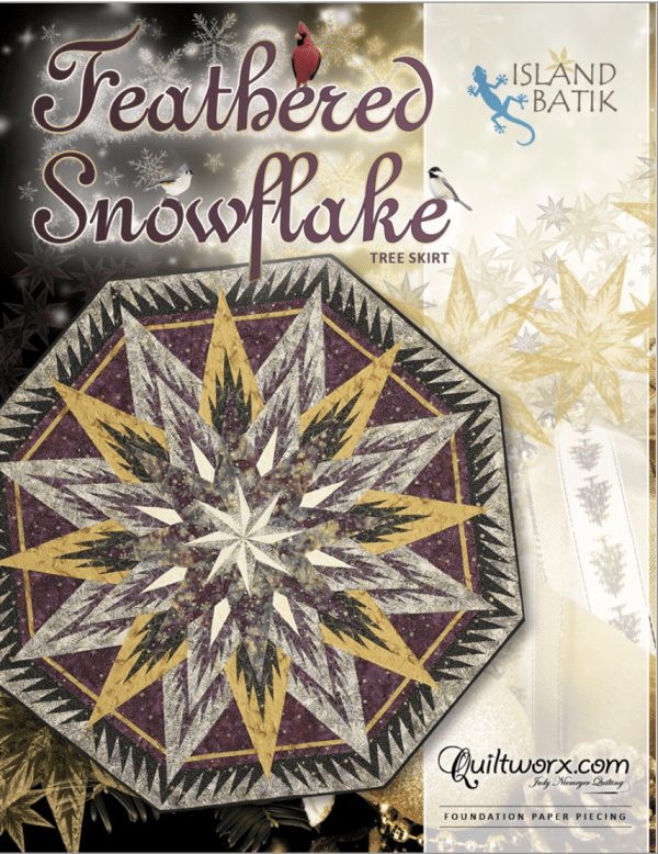 Feathered Snowflake Tree Skirt/Table Topper