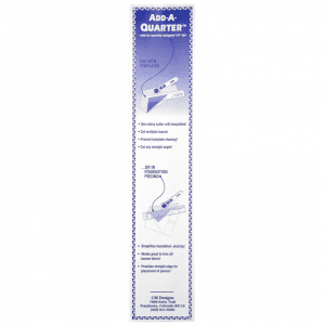 "Add-A-Quarter, 12"", Ruler, Paper Piecing, Judy Niemeyer"