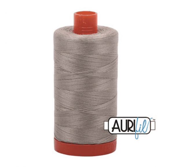 Aurifil Mako Cotton Thread 50wt 1422yds Stone #2324