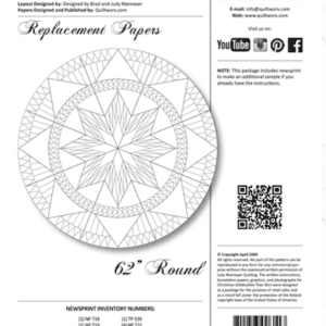 """Christmas Celebrations 62"""" Replacement Papers"""
